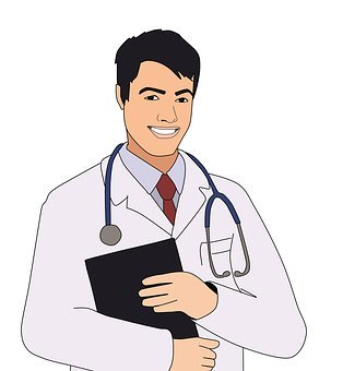 biały fartuch medyczny